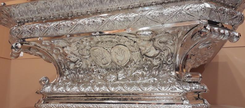Exposición de la peana de la Stma. Virgen